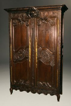 very nice french 18th century oak marriage armoire with carved dove denoting marriage circa 1760 antique english country armoire circa 1830s