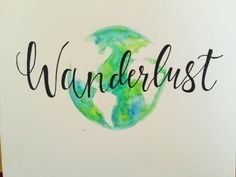 Wanderlust Globe Watercolor Painting by PaintingsbyPearl on Etsy