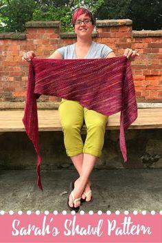 Sarah's Shawl Pattern easy knit shawl simple shawl