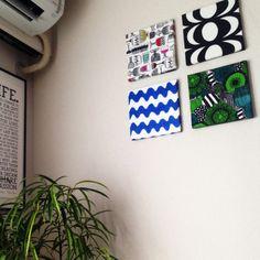 デコパージュ/マリメッコパネル自作してみました‼︎/雑貨/100均/賃貸…などのインテリア実例 - 2015-01-26 11:01:52   RoomClip(ルームクリップ) Fabric Panels, Gallery Wall, Frame, Interior, Home Decor, Life, Homemade Home Decor, Indoor, A Frame