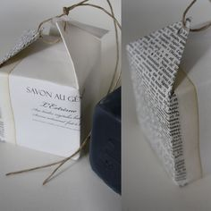 for wrapping tiny gifts, like a small jewelry box, use old/vintage yellowed book pages - whimsical