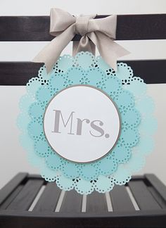 #DIYwedding - how to easily make these adorable Mr & Mrs wedding chair signs! #12monthsofmartha @Martha Stewart