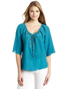 Plenty by Tracy Reese Women's Embellished Peasant Shirt for $228.00