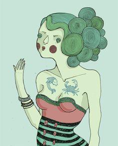 Various illustrations, personal work, vol. 1. by Lilla Bölecz, via Behance