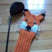 Fox golf club cover - via @Craftsy