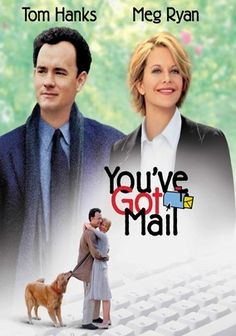 You've Got Mail (1998) In this valentine to modern romance, book superstore magnate Joe Fox (Tom Hanks) and independent book shop owner Kathleen Kelly (Meg Ryan) fall in love in the anonymity of the Internet -- both blissfully unaware that he's trying to put her out of business. Director Nora Ephron's Golden Globe-nominated romantic comedy puts romance on the ropes -- and forces two people to make tough decisions about life, love and livelihood.