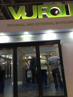 A shot of our very busy stand through a set of Grey Master bifold doors at the Homebuilding & Renovating Show ExCeL, London. Exhibitions, Building A House, The Past, Doors, London, Business, Grey, Gray, Build House