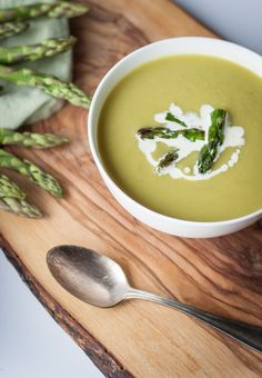 asparagus soup...perfect for spring | Blogging Over Thyme