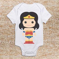 Super Hero Baby...Wonder Woman Onesie by PreppyChicKids on Etsy, $14.00