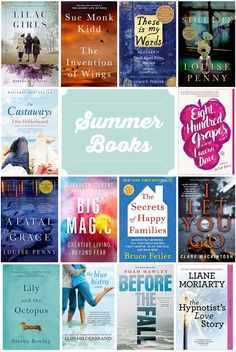Books that are perfect for reading in the summertime.