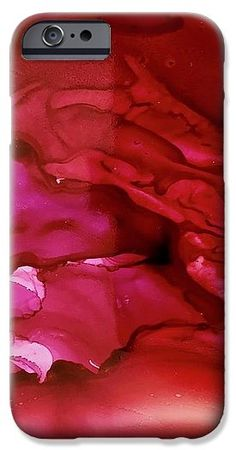 "Abstract IPhone 7 Case featuring the painting ""Berry Juice"" by Lynn Tolson. to buy click image. #AbstractArt #PhoneCases #iPhone7Cases #GalaxyCases #iPhoneCases #iPhone7PlusCases #PortableBatteryChargers #CellPhoneCases #SmartPhoneCases #AbstractPhoneCases #AbstractArtPhoneCases #DesignerPhoneCases #TechCases #PhoneAccessories #RedPhoneCase"