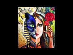 Alter Ego inspired by Egyptian queen Alter Ego, Egyptian Queen, Eckhart Tolle, Watercolor Leaves, Beauty Art, Alters, Art Google, Art Drawings, Body Art