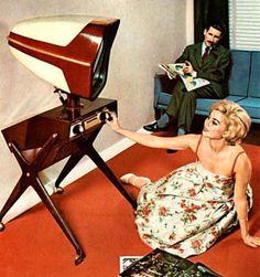 "retro-devil: "" danismm: ""TELEAVIA TV Dealer Brochure (France by Mark "" ""What's on the interocitor tonight?"