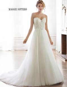 Discover the Maggie Sottero Enza Bridal Gown. Find exceptional Maggie Sottero Bridal Gowns at The Wedding Shoppe Maggie Sottero Wedding Dresses, Sweetheart Wedding Dress, Perfect Wedding Dress, Wedding Dress Styles, Mod Wedding, Tulle Wedding, Dream Wedding, Backless Wedding, Wedding Ideas