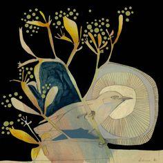 grey breasted silvereye and kangaroo paw mini print Kangaroo Paw, Artist Card, Plant Illustration, Mail Art, Botanical Art, Painting Inspiration, Pet Birds, New Art, Printmaking