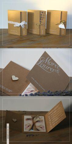 M + L Drieluik Tree Wedding, Wedding Day, Invitation Design, Invitation Cards, Safe The Date, Wedding Hands, Creative Wedding Invitations, Embroidery Kits, Diy And Crafts