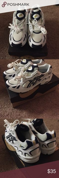 Asics Men's 12 Gel-legato: white and navy, brand new, never worn, PERFECT GIFT FOR HIM, cotton tags still on. 20% OFF IF YOU BUNDLE 2 or MORE ITEMS! Asics Shoes Athletic Shoes