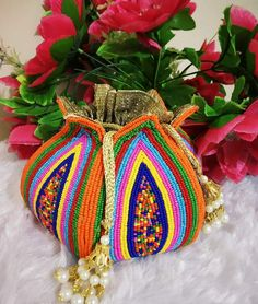 Wedding Accessories, Jewelry Accessories, Potli Bags, Bridal Clutch, Beaded Bags, Crochet Purses, Handmade Bags, Gift Bags, Indian Jewelry
