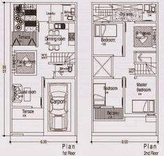 Super Garden Home House Plans Layout Ideas Minimalist House Design, Minimalist Home, Small House Plans, House Floor Plans, Bungalow, Garden Shed Interiors, Model House Plan, Townhouse Designs, Wood Floor Kitchen