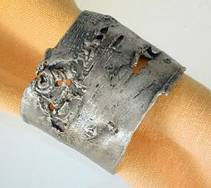 Michael Michaud - Table Art - Birch Bark Napkin Ring Set