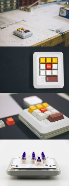 The M10-A is fully programmable 10 key macropad with a beautifully retro aesthetic! Read more at Yanko Design