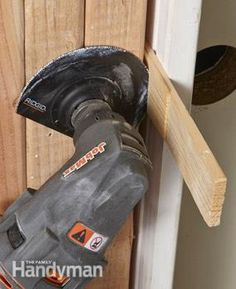 Use an oscillating tool to trim door shims quickly and cleanly, without causing them to shift.