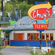 Chuy's Tex Mex in Austin! Was there on the first night of the original Chuy's on Barton Springs. Only In Texas, Loving Texas, Unique Restaurants, Lone Star State, On The Road Again, University Of Texas, Texas Homes, Stars At Night, Down South