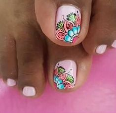 Toe Nails, Pedicure, Nail Art, Purple, Sexy, Vestidos, Tropical Nail Designs, Pretty Gel Nails, Feet Nails