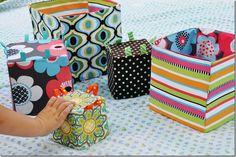 Fabric baby blocks using Anna Maria Horner pattern