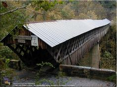 Horton Mill Covered Bridge...north of Oneonta, AL..It is 220 feet long and is the highest covered bridge over water in the U.S. It's right off of Highway 75--and you might want to check out the beautiful Palisades Park while you're in the vicinity.