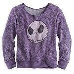 Disney Shirt for Women - Jack Skellington Long Sleeve Top - Purple