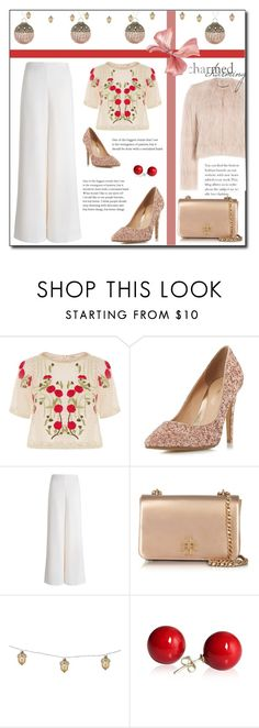 """""""Elegant !"""" by emapolyvore ❤ liked on Polyvore featuring Temperley London, Head Over Heels by Dune, Zimmermann, Tory Burch, Home Decorators Collection and RED Valentino"""