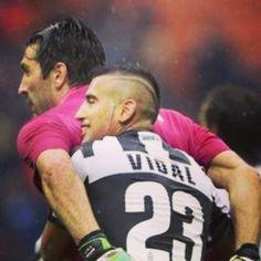 Vidal and Gigi Buffon  Juventus