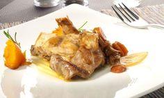 Receta de Conejo en escabeche con boniato asado