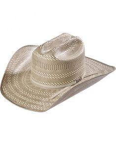 2f01b55374d American Hat Co. Two-Tone Cattleman Straw Cowboy Hat Western Hats