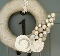 WANT this!! Christmas Wreath on Etsy -- Love all of her Wreaths!