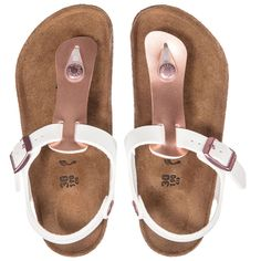 e3b01da3ba2a63 Birkenstock Girls Leather Kairo Sandals at Childrensalon.com Birkenstock  For Kids