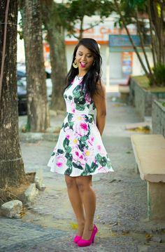 Look da Maanuh, vestido floral