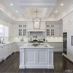 46 Creative White Kitchen Design And Decor Ideas. 46 Creative White Kitchen Design And Decor Ideas. Today the most popular type of home improvement homeowners are wanting and doing is kitchen remodeling. Home Decor Kitchen, Interior Design Kitchen, Diy Kitchen, Home Kitchens, Kitchen Ideas, Kitchen Backsplash, Dream Kitchens, White Kitchen Designs, Kitchen Inspiration