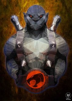 This awesome set of ThunderCats pieces were done by digital artist ideealizse who uses a polygon technique, giving a stained glass feel to these unique Comic Book Characters, Comic Books Art, Comic Art, He Man Thundercats, Thundercats Characters, Ulysse 31, 80 Cartoons, Saturday Morning Cartoons, Classic Cartoons