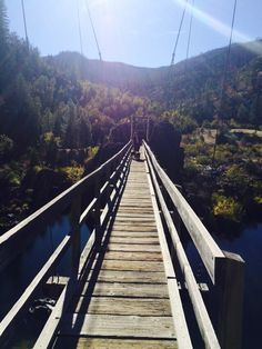 Swinging Bridge Over The Illinois River Selma Oregon