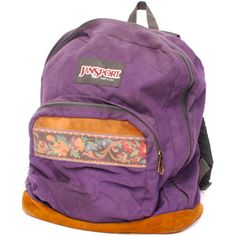 Decorate it with about seventy plastic keychains from Claire's hanging off the zipper and you're good to go. Mochila Hippie, Purple Canvas, Floral Backpack, Vintage Backpacks, Vintage Canvas, All Things Purple, Canvas Backpack, Jansport Backpack, School Backpacks