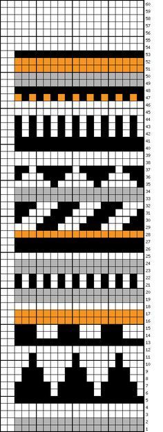 Bag making color chart and data Tapestry Crochet Patterns, Fair Isle Knitting Patterns, Fair Isle Pattern, Crochet Stitches Patterns, Knitting Charts, Knitting Stitches, Knitting Socks, Crochet Cross, Crochet Chart