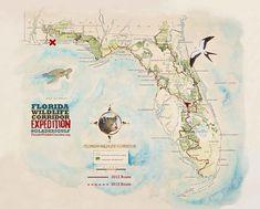 Expedition map, Florida Wildlife Corridor