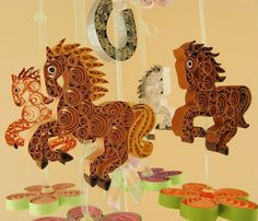 Baby Mobile READY To SHIP Dream Horses Mobile by tsipouritsa
