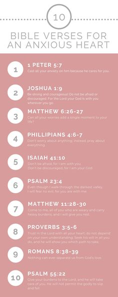10 Bible Verses To Help Calm An Anxious Heart God calls us to live a life free from worry and. Short Bible Verses, Bible Verses Quotes, Bible Scriptures, Bible Quotes For Anxiety, Anxiety Verses, Bible Quotes About Worry, Worrying Quotes Bible, Inspiring Bible Verses, Tattoo Ideas