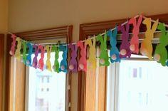Osterdeko basteln – 20 Ideen für süße Girlanden für das Kinderzimmer