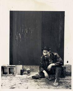 Ron Miyashiro in his Los Angeles studio, 1960s