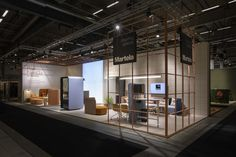 Martela's booth at SFF 2019 with our Pod Family. Scandinavian Design, Stockholm, Retail, Furniture, Ideas, Interiors, Blue Prints, Home Furnishings, Thoughts