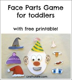 This fun face parts game helps children to learn about face parts. Made with sticky paper and velcro dots, and includes a free printable. part Little kids will love this face parts game. Get the free printable! Infant Activities, Activities For Kids, Circus Activities, Cognitive Activities, Communication Activities, Classroom Activities, Preschool Activities, Mason Jar Diy, Mason Jar Crafts